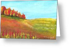 Field In Autumn Greeting Card