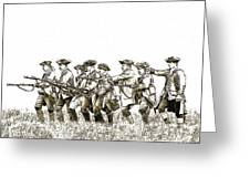 Field Of Battle Soldier Sketch Greeting Card