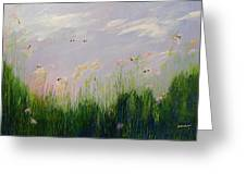 Field Of Bee's Greeting Card