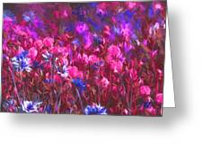 Field Of Dreams Abstract Greeting Card