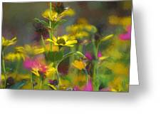 Field Of Flowers Paint Greeting Card