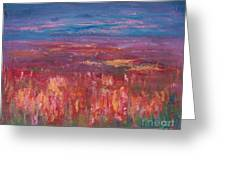 Field Of Heather Greeting Card