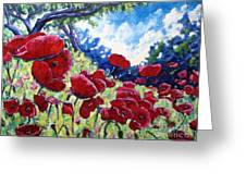 Field Of Poppies 02 Greeting Card