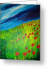 field of Poppies 2 Greeting Card