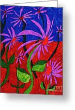 Field Of Purple Flowers Greeting Card