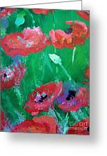 Field Of Red 2 Greeting Card