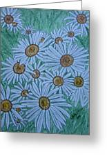 Field Of Wild Daisies Greeting Card