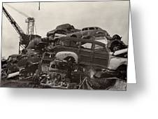 Field Of Woody Dream Cars Greeting Card by Jack Pumphrey