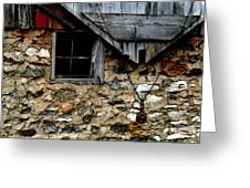 Field Stone Barn Greeting Card