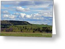 Field To Forest To Hill To Sky Greeting Card