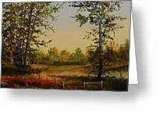 Fields And Trees Greeting Card