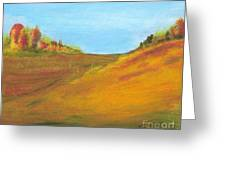 Fields In Fall Greeting Card