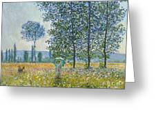 Fields In Spring, 1887 Greeting Card