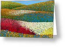 Fields Of Flowers Greeting Card