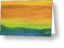 Fields Of Gold 1 - Abstract Summer Landscape Painting Greeting Card