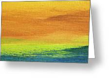 Fields Of Gold 2 - Abstract Summer Landscape Painting Greeting Card