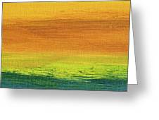 Fields Of Gold 3 - Abstract Summer Landscape Painting Greeting Card
