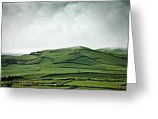 Fields Of The Hill Greeting Card
