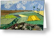 Fields To Gogh Greeting Card by Martha Ressler