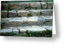 Fieldstone Stairs New England Greeting Card