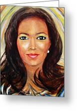 Fiercewomen Portrait Of Adrienne Greeting Card
