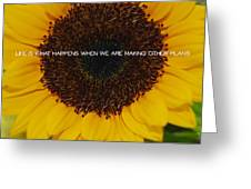 Fiery Bloom Quote Greeting Card