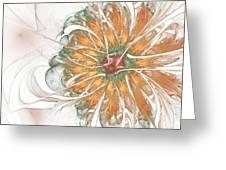 Fiery Chrysanthemum Greeting Card