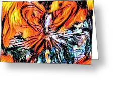 Fiery Crystal Greeting Card