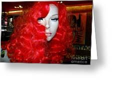 Fiery Femme Fatale  Greeting Card