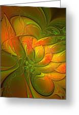 Fiery Glow Greeting Card