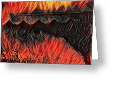 A Hot Valley Of Flames Greeting Card
