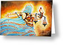 Fiery Justice Greeting Card