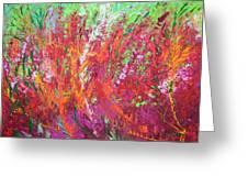 Fiery Meadow Greeting Card