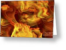 Fiery Mist Greeting Card