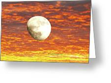 Fiery Moon Greeting Card