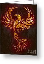 Fiery Phoenix Greeting Card
