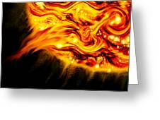 Fiery Sun Erupting With M1.7 Class Solar Flare Greeting Card