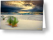Fiery Sunrise At White Sands Greeting Card