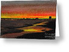 Fiery Sunset Greeting Card