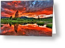 Fiery Sunset Greeting Card