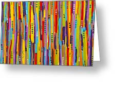Fiesta Abstract Greeting Card