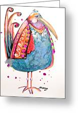 Fiesta Bird Greeting Card