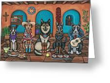 Fiesta Dogs Greeting Card