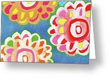 Fiesta Floral 3- Art By Linda Woods Greeting Card