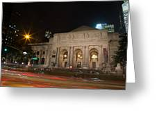 Fifth Avenue And Library Greeting Card