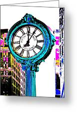 Fifth Avenue Building Clock New York  Greeting Card