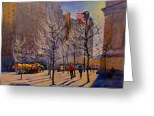Fifth Avenue - Late Winter At The Met Greeting Card