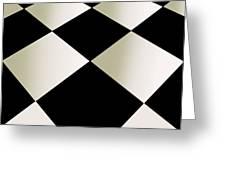 Fifties Kitchen Checkerboard Floor Greeting Card