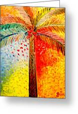 Fig Palm Sunset Greeting Card