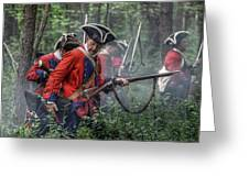 Fight In The Forest Bushy Run 1763 Greeting Card